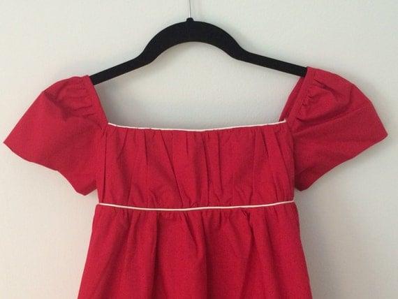 Girls Dress Size 6 - Organic Cotton Dress - Empire Waist Dress -Girls Party Dress - Junior Bridesmaid Dress - Jane Austen Dress - Edwardian