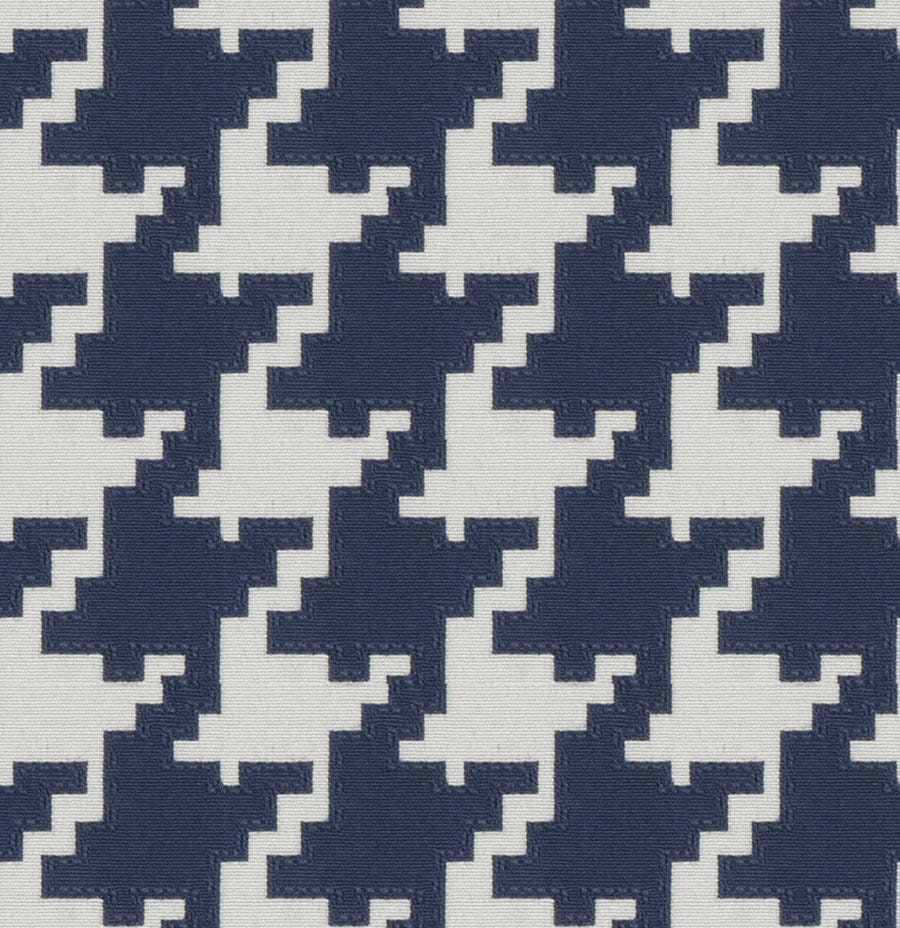 navy blue houndstooth upholstery fabric blue geometric home. Black Bedroom Furniture Sets. Home Design Ideas
