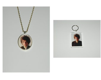 Bob DylanGlass pendant Necklace and/ or Keychain Key Chain