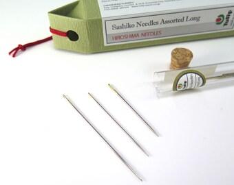 Sashiko Needles - Tulip Hiroshima Sashiko Needles Assorted Long - Large Eye Needles