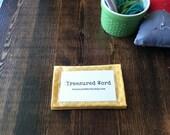Scripture Memory Verse Card Holder -Mellow Yellow
