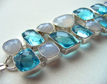 Gorgeous Multistone Bracelet set in Sterling Silver