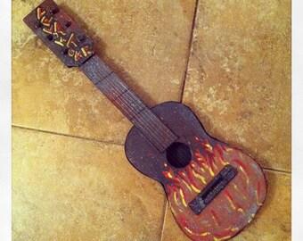 Fuego- Mixed-Media custom-modified art-instrument.
