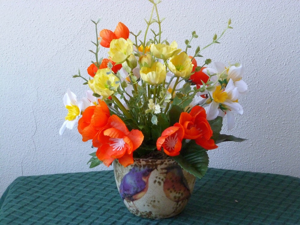 Small Spring Floral Arrangement Mother 39 S Day Gift Orange