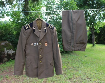 Halloween clothing Halloween costume Soviet military uniform Russian army uniform Soviet army jacket pants size SMALL