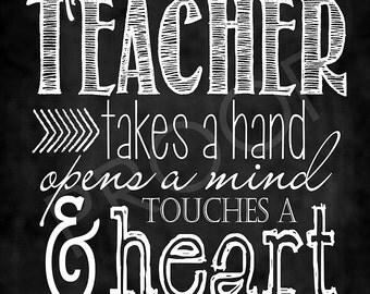 Chalkboard Art - Quote for Teachers ~ Chalkboard Style