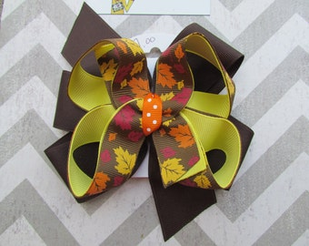 SALE-Ready to Ship Stacked Fall Hair Bow