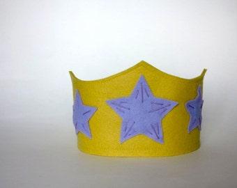 Yellow and Purple Star Birthday Crown
