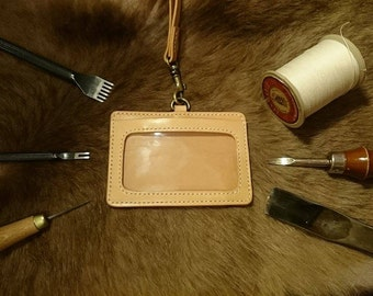 Italian Vegetable-tanned Leather ID Card Holder