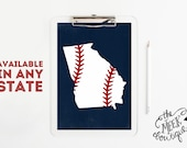 INSTANT DOWNLOAD, Baseball State Art, Texas, Tennessee, Georgia, Available in ANY State, Printable, No.