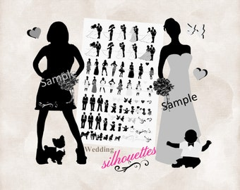 items similar to template arrows double sided silhouette wedding program custom made with your. Black Bedroom Furniture Sets. Home Design Ideas
