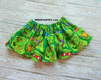 superhero costume supergirl TMNT Birthday outfit dress up Teenage Mutant Ninja Turtle skirt tutu girl NB 3 6 9 12 18 m 2t 3t 4t 5t 6 toddler