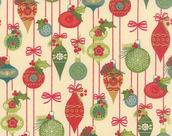 TOLE CHRISTMAS - PARCHMENT - 1/2 Yard - 10052-12 - by Gina Martin for Moda