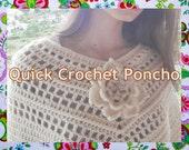 Quick Woman Poncho Crochet Pattern
