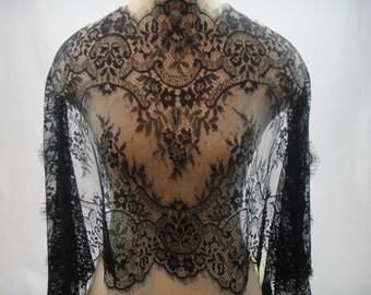Chantilly Lace Trim, Black Lace Trim, Lace Fabric, Black Lace, Trimming, Black Trim, Chantilly Lace, Bridal Supply, G38-517