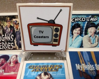 Retro TV Coasters (Mix and Match set of any 4)