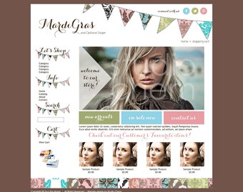 Limited Premade Boutique eCommerce Website Template Compatible with Merchant Moms, Shoppe Pro, Bizzy Mama, Mia Shops and Other WAHM Hosts