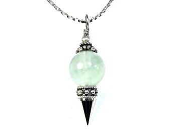 Green Fluorite Protection Pendulum Neckalce