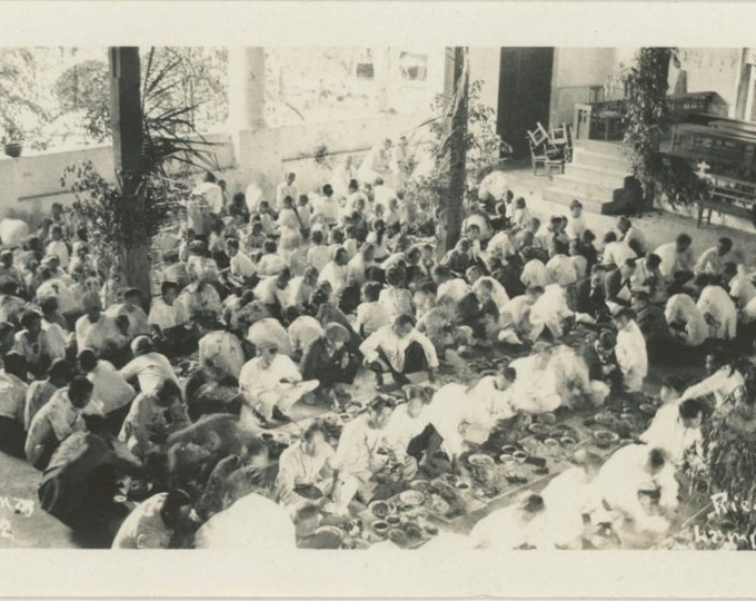 Rice Feast, Lampang, Siam (Thailand), Christmas 1922: Vintage Photo Snapshot 55364