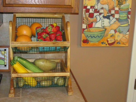 Countertop Vegetable Bin : Countertop two tier vegetable and fruit storage bins