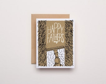 Father's Day Shave Card - Letterpress Card