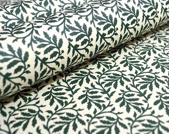 Italian Decorative Paper Carta Varese - Green Leaves