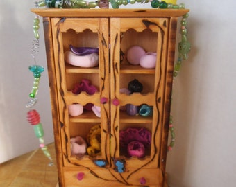 Enchanting Little Fairy Closet...Jars, Pots and Flowers...One of a Kind