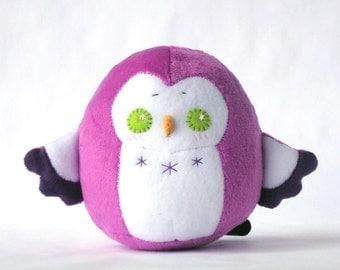 Purple Chubby Owl Squishy Plush Doll