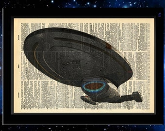 Star Trek Inspired USS Voyager Vintage Dictionary Print