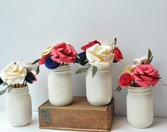 Wedding Centerpiece, Flower centerpiece, Paper Flower arrangement, Paper flower Centerpiece