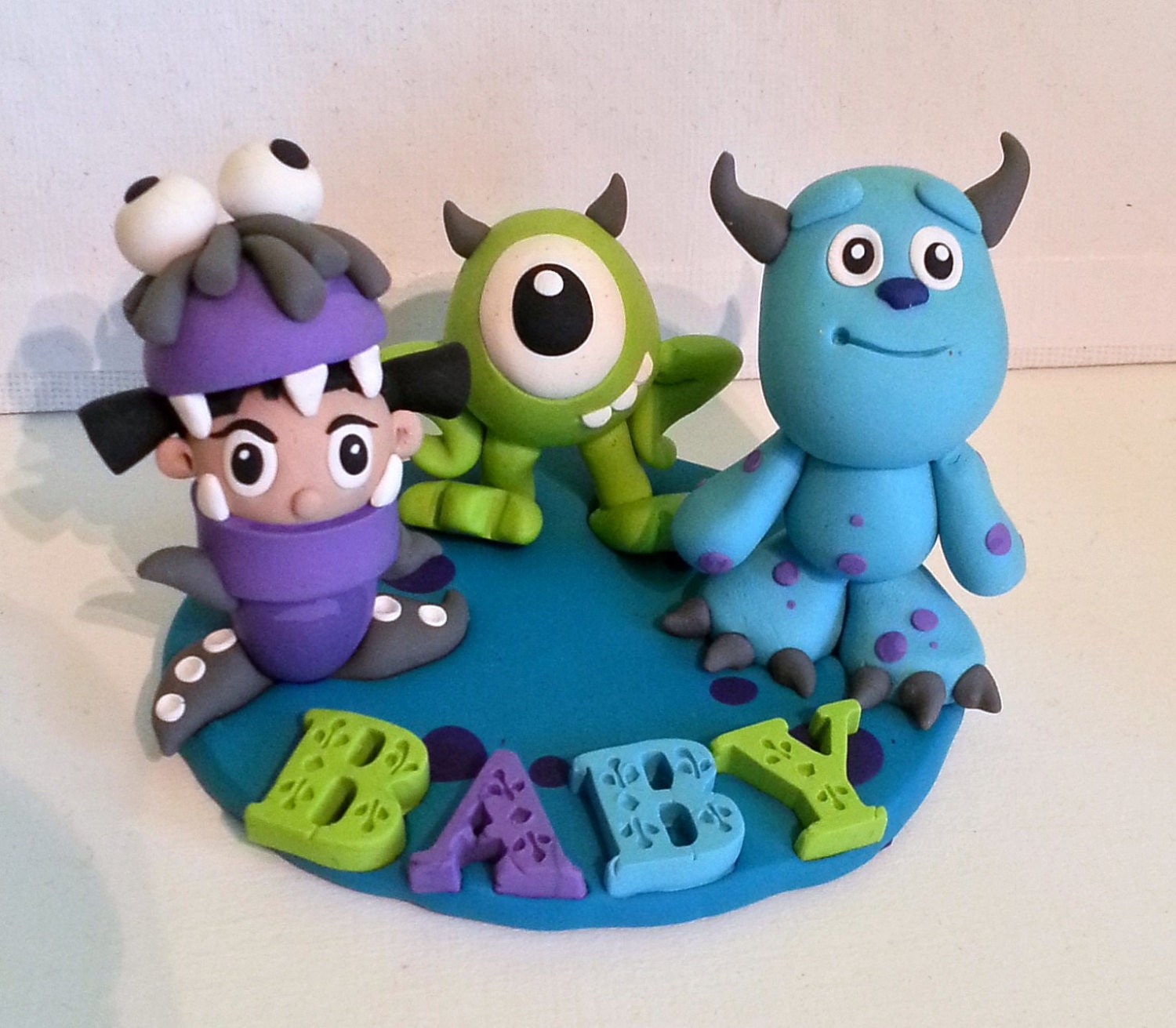 Cake Toppers Baby Shower Etsy : Monsters INC Baby Shower Cake Topper & Keepsake by RSQD on ...