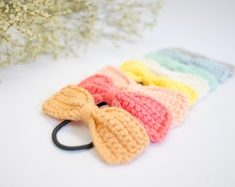 Crochet Bow Hair/ Girl Party Gifts/ Colorful Colors