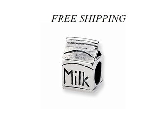 Sterling Silver Milk Carton Bead