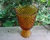 fenton amber hobnail apothecary jar
