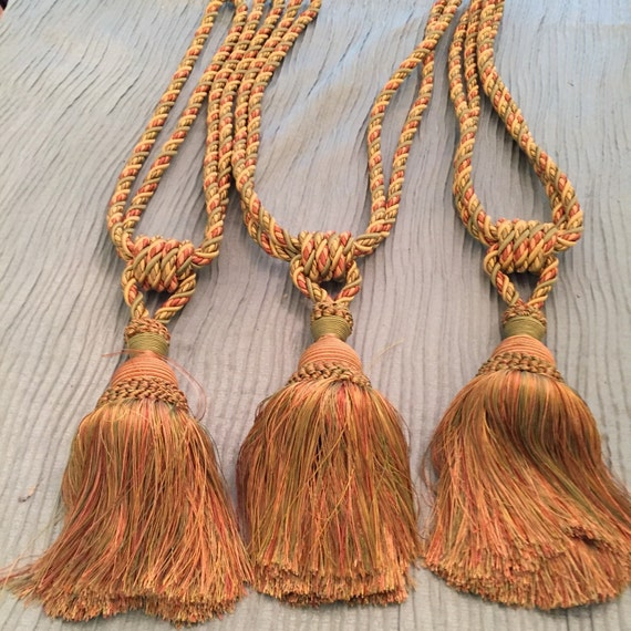 Large Tassels Home Decor: HOME DECOR TASSELS Large Pink Green Gold Palm By