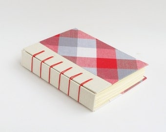 A6 Decorative / Plaid / Tartan / Notebook / Diary / Sketch Book / Journal / 256 Blank Pages