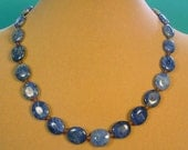 "Gorgeous 18"" Denim Blue Polished Sodalite Necklace - N424"