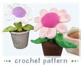 Potted Plant - Flower - Crochet Pattern - PDF