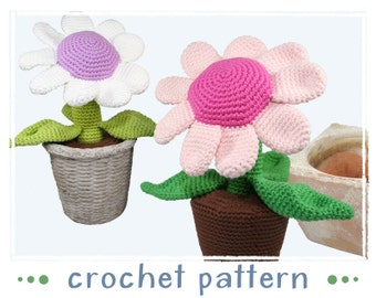 Potted Plant - Flower - Crochet Pattern - PDF