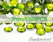 3mm/1000pcs Olive Green color Flatback Rhinestone Crystal accessories material supplies