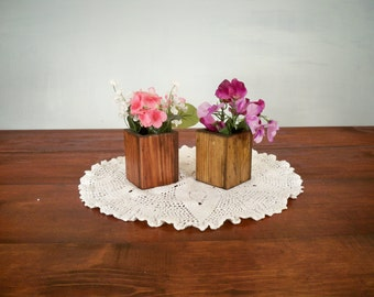 Decorative Wood Vase, Decorative Wood Box, Decorative Wood Centerpiece, Decorative Centerpiece,Table Center Piece, Rustic Wood Box
