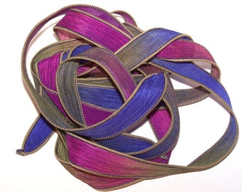 Intense  Sassy Silks Hand Painted Silk Ribbon