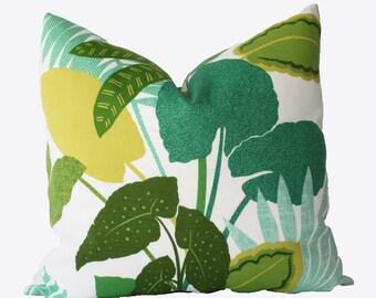 Decorative Jungle Green Outdoor Pillow Cover, 18x18, 20x20, 22x22 or Lumbar Throw Pillow