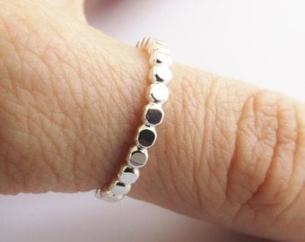 Thick Modern Design Thumb Ring,Sterling Drop Bead Thumb Ring,Stacking Ring,Modern Boho Rng,Drop Ring,Super Thick Beaded Ring,Statement