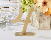 Wedding Table Number Gold Table Numbers Classic Gold Wood Table Number Elegant Reusable Gold Wooden Standing Table Numbers 1-18