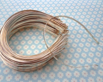 Gold headbands--5mm gold metal headbands 30 pcs