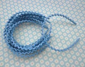 20 pcs blue color  the wave shape  plastic Headband 5mm Wide