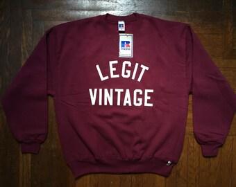 legit vintage X russell athletic crewneck mens size XL