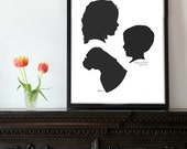 3 Custom Silhouettes - you own digital files!