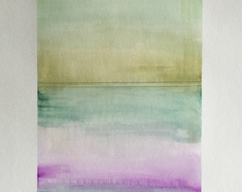 Large Original Watercolor - Color Study No. 002